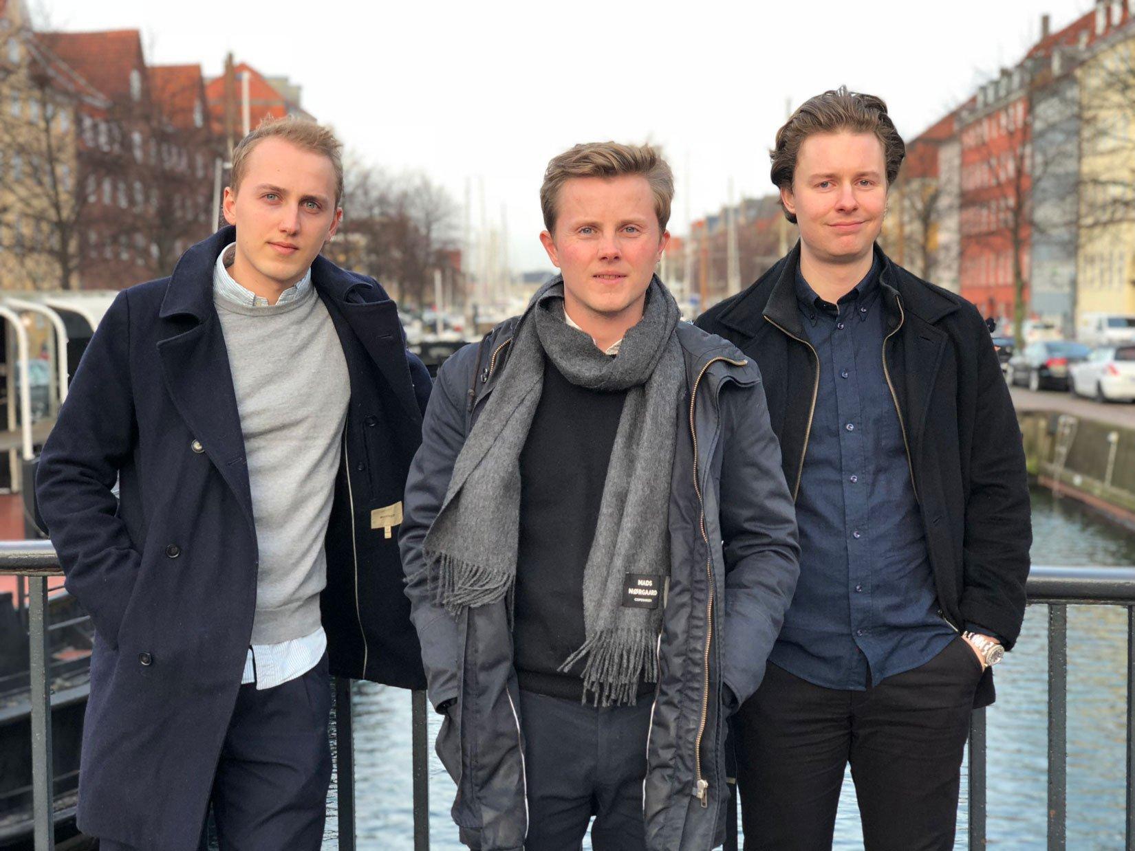 Flyhjælps tre stiftere: Johan Thybo, Gustav Frederik Thybo og Philip Brechmann